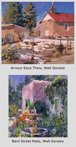 Taos paintings by Walt Gonske