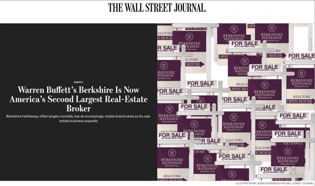 Berkshire Is Now America's Second Largest Real-Estate Broker