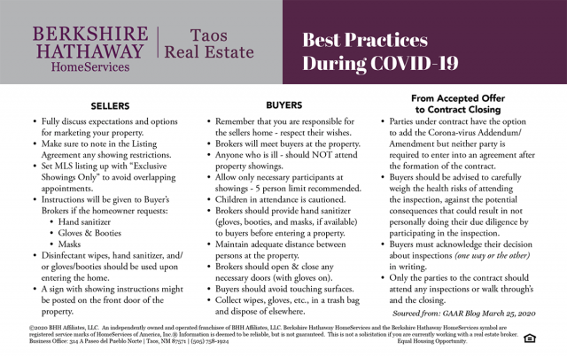 Best Practices Real Estate During COVID-19