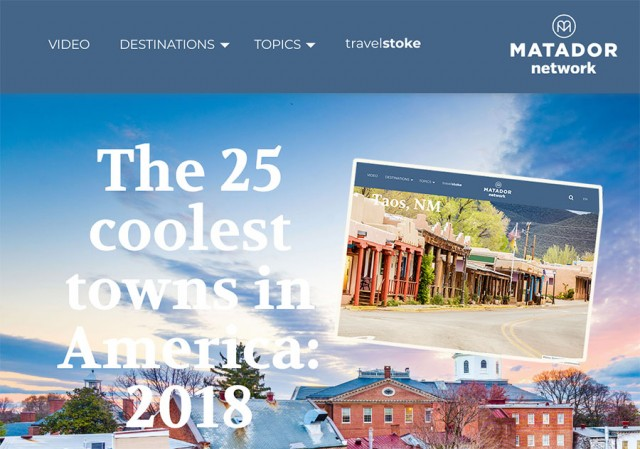 Coolest Towns in America Features Taos